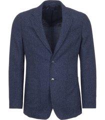 hackett loneon blue textured geo blazer 442206r