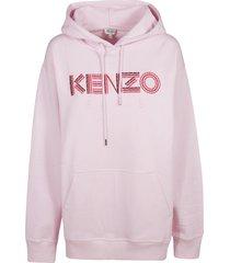 kenzo logo front hoodie
