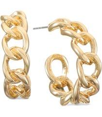 "alfani gold-tone small chain-link c-hoop earrings, 1"", created for macy's"