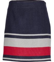 fluffy mini skirt kort kjol blå tommy hilfiger