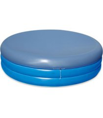 blue wave deep inflatable round family pool with cover, set of 2