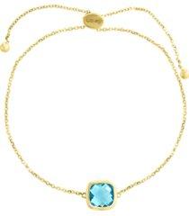 effy blue topaz (2 9/10 ct. t.w.) bracelet in 14k gold
