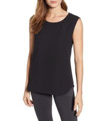 anne klein scoop neck sleeveless blouse, size x-large in anne black at nordstrom