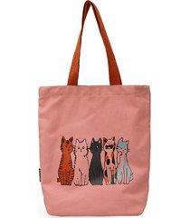 borsa a tracolla casual da donna con stampa gatto cat borsa