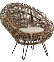 fotel krzesło rattanowo bambusowe