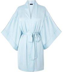 natori l'amour bridal gift set sleep/lounge/bath wrap/robe, women's, blue, size l/xl natori