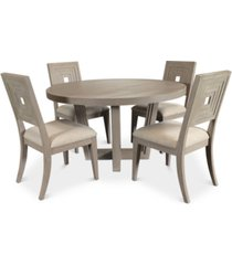 modern coastal dining furniture, 5-pc set (table & 4 side chairs)