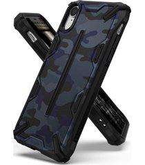 estuche protector ringke dual x iphone xr - camuflado azul