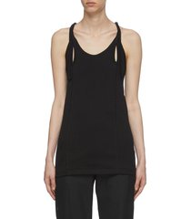 'tereko' cut-out detail adjustable strap tank top