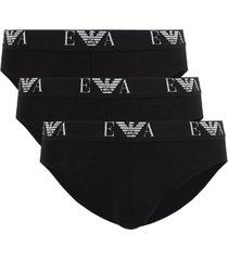 emporio armani 3-pack heren slips - zwart