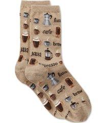 hot sox women's coffee fashion crew socks