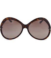 63mm oversized oval sunglasses