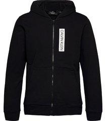 full zip hooded jacket hoodie trui zwart calvin klein performance