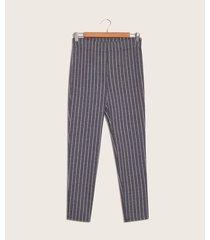 pantalón de rayas negro