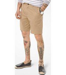 mk shorts in cotone stretch délavé - cachi (naturale) - michael kors