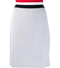 thom browne rwb waistband seersucker skirt - grey