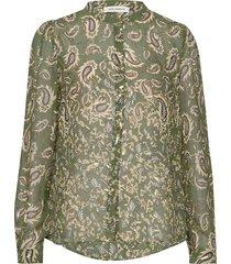 shirt blouse lange mouwen groen sofie schnoor