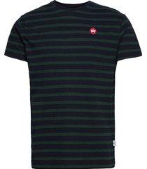 navey recycled cotton t-shirt t-shirts short-sleeved blå kronstadt