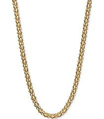 "14k gold necklace, 24"" gauge popcorn chain (1-3/4mm)"