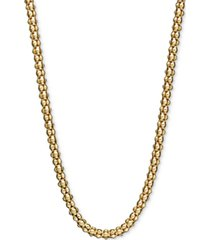 "14k gold necklace, 24"" gauge popcorn chain (1-3/4mm)"