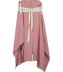 plan c striped popeline long skirt