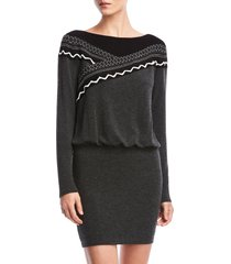 women's bailey 44 karina blouson long sleeve sweater dress