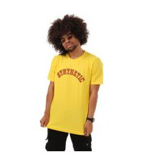 camiseta college synthetic inc. - sync - amarela