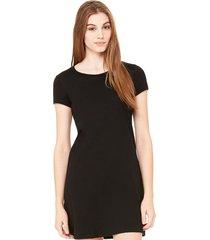 vestido criativa urbana liso preto básico