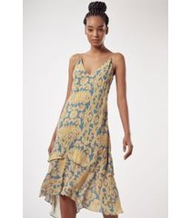 vestido agda est arabesco azul