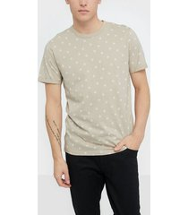 premium by jack & jones jprtristan bla. tee ss crew neck t-shirts & linnen ljus grå