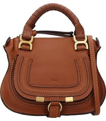 chloé mini mercie hand bag in leather color leather