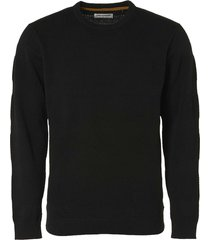 no excess pullover crewneck jacquard black