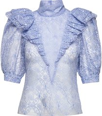 ofelia by nbs blouses short-sleeved blå custommade