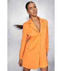 oversized blazer jurk, orange