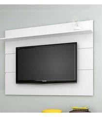 painel para tv até 70 polegadas vivare 1.8 new branco acetinado - móveis germai