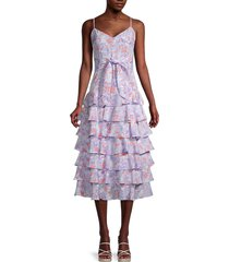 likely women's ariella floral-printed dress - purple - size 00