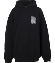 balenciaga man black medium fit barcode hoodie