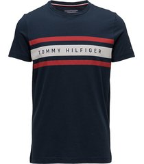 logo band graphic tee t-shirts short-sleeved blå tommy hilfiger