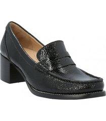 zapato de vestir cuero mujer ringer negro hush puppies