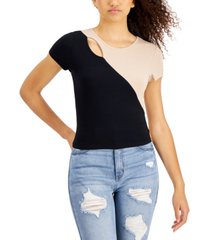 crave frame juniors' colorblocked top