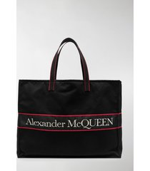 alexander mcqueen east west logo tote bag