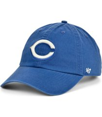 '47 brand cincinnati reds timber blue clean up cap
