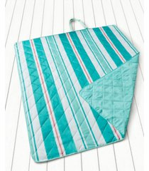 martha stewart collection quilted awning stripe convertible beach blanket, created for macy's bedding