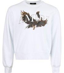 white eagle crewneck sweater