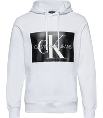 monogram box logo re hoodie trui grijs calvin klein jeans