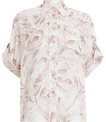 super eight safari shirt in bleached palm