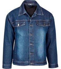 jaqueta masculina jeans azul denim - kanui