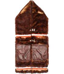 calvin klein 205w39nyc long fur scarf - brown