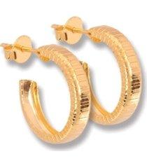 argola le diamond pequena aberta dourada - tricae