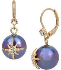 betsey johnson celestial pearl drop earrings